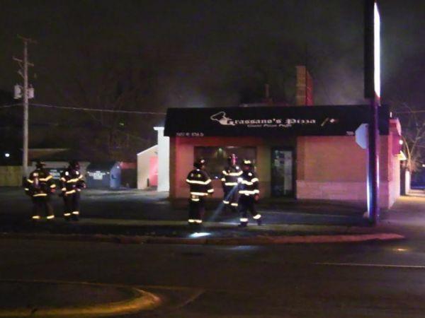 Fire Crews Battle Overnight Roof Fire At Oak Lawn Pizzeria