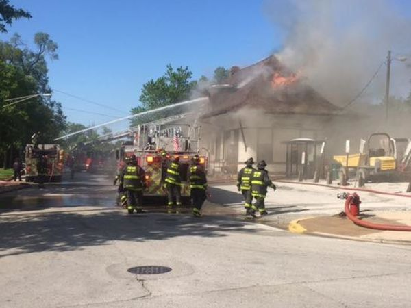 Fire Heavily Damages Historic Train Depot