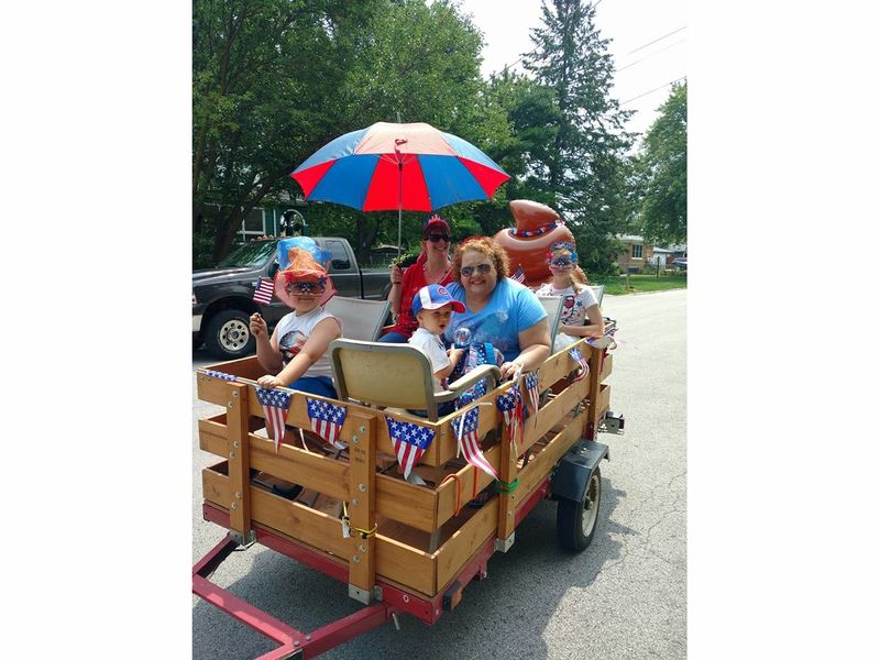 Crestwood Celebrates July 4th With Wacky Lawn Mower Parade