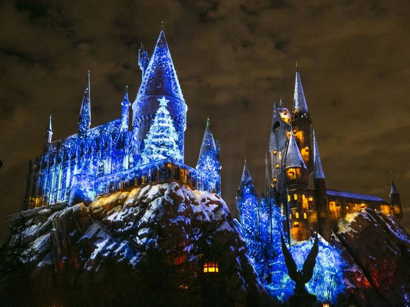 universal studios hollywoods new harry potter christmas - Christmas City Studios