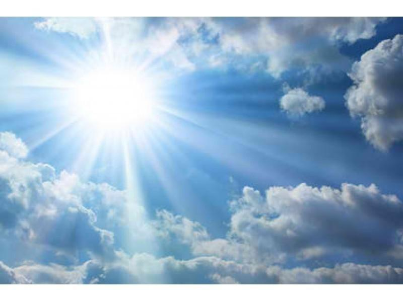 clear skies and temps in the 80s for start of the week