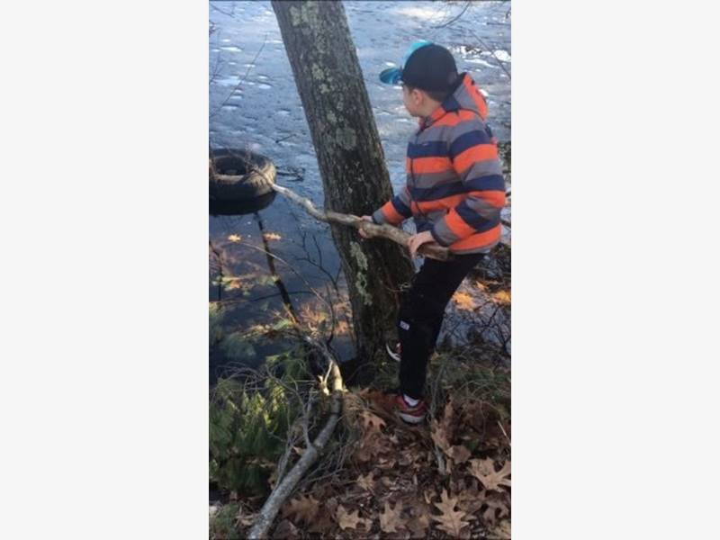 Boy Spends Part Of Vacation Cleaning Up Pennichuck River