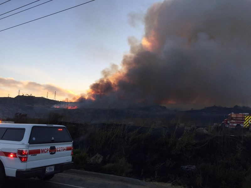 Oceanside Fire Update >> Cristianitos Fire 400 Acre Brush Fire Burns At Camp Pendleton