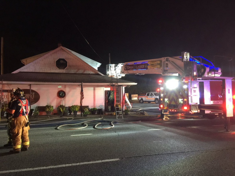 Bar blaze on route 1 draws firefighters from 3 counties for Route 1 motors inc laurel md