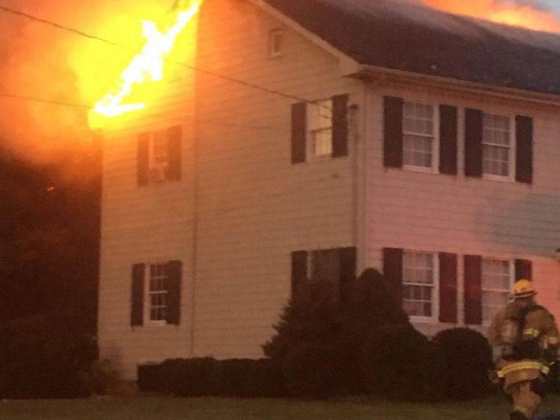 Flames Shoot Through Roof Off Md 543 Harford Fire