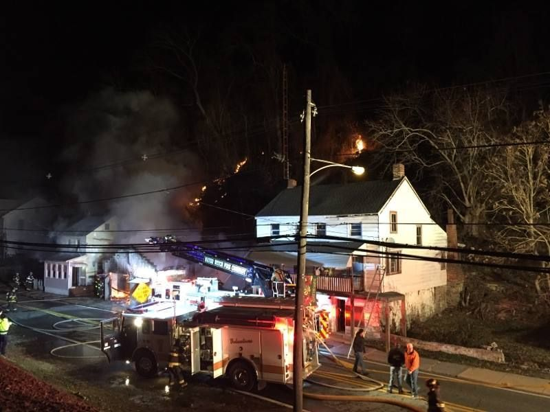 Main Street Closed In Port Deposit For House Fire