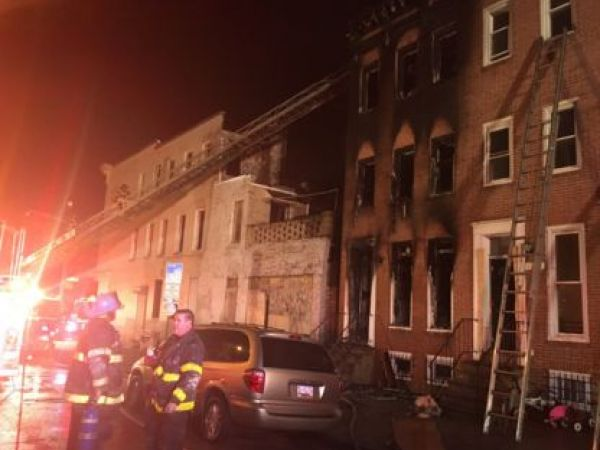 Police name suspect in fire that killed 2 in Baltimore