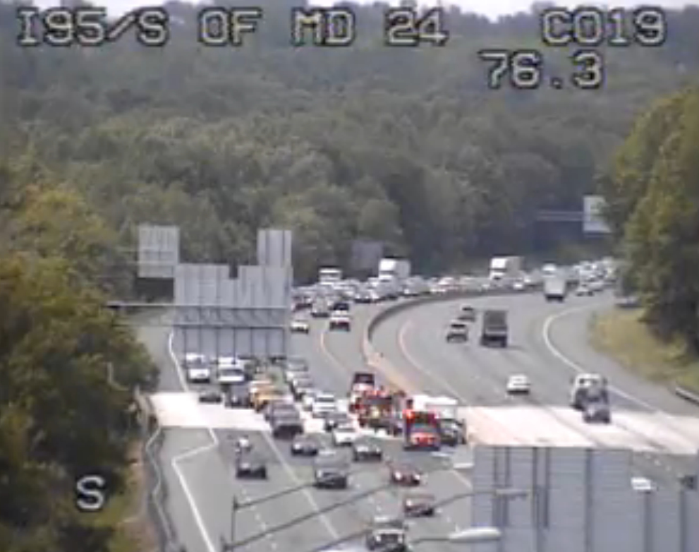 Crash On I-95 Slows Traffic South Of MD 24 | Bel Air, MD Patch