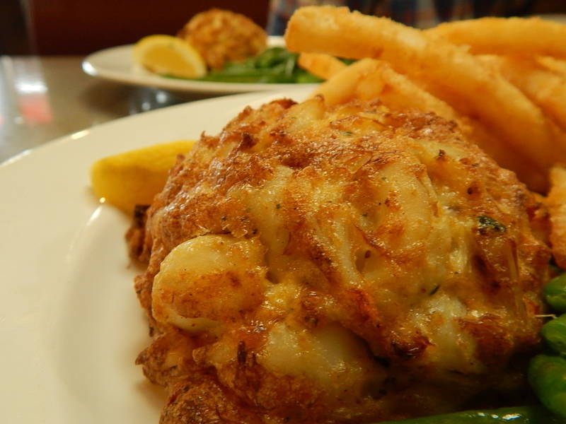 Photo of Pappas crabcakes by Elizabeth Janney