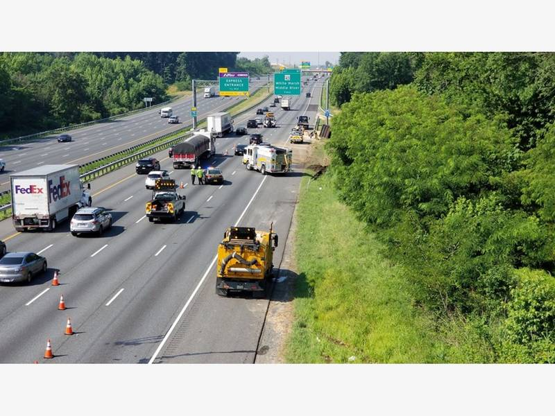 dump truck overturns on i 95 near white marsh boulevard mdta 0