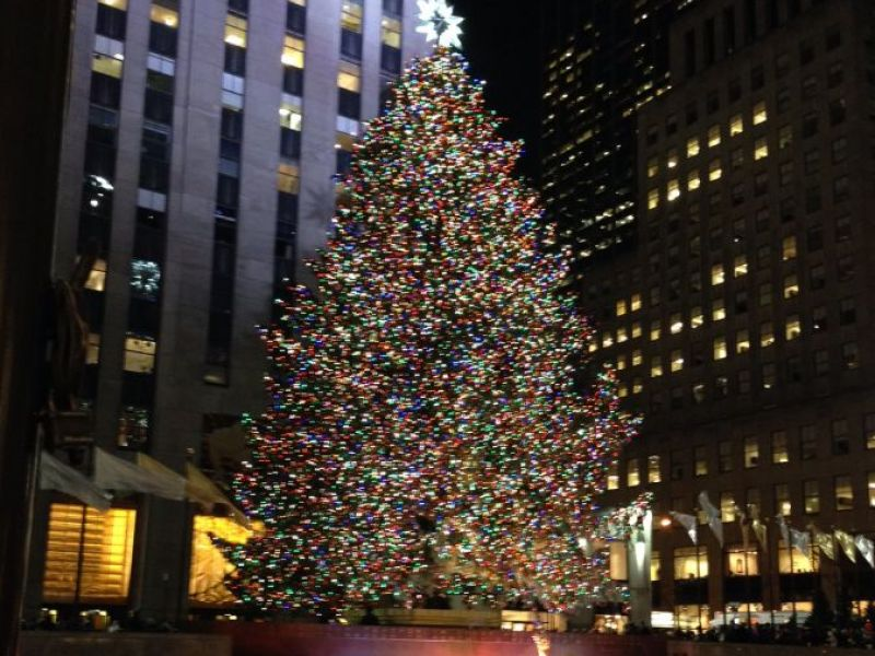Christmas Tree In Manhattan
