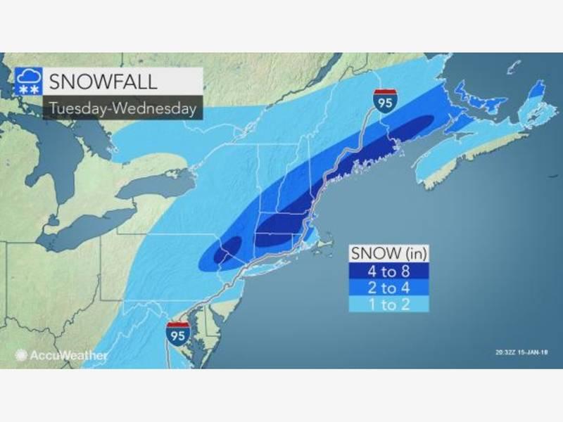 Larchmont S Weather Snow Estimates Rise Larchmont Ny Patch