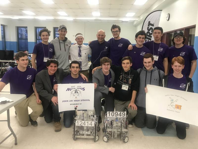 John Jay S Robotics Teams Take Top Spots In Qualifier Bedford Ny