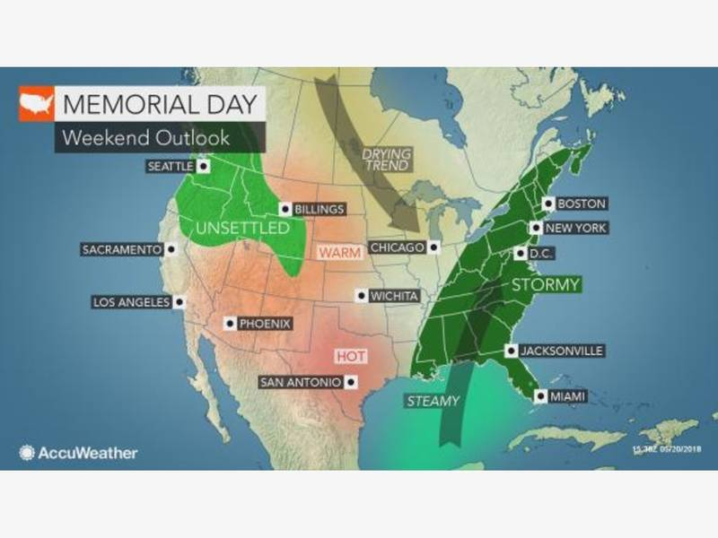 Lead Up To Memorial Day Port Chesters Work Week Weather