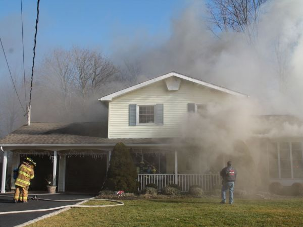 One person hospitalized after hauppauge house fire for Single person house