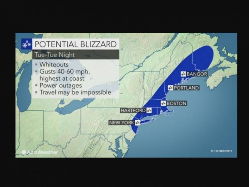 Long Island Weather Forecast The Latest Details On Tuesday 39 S Blizzard