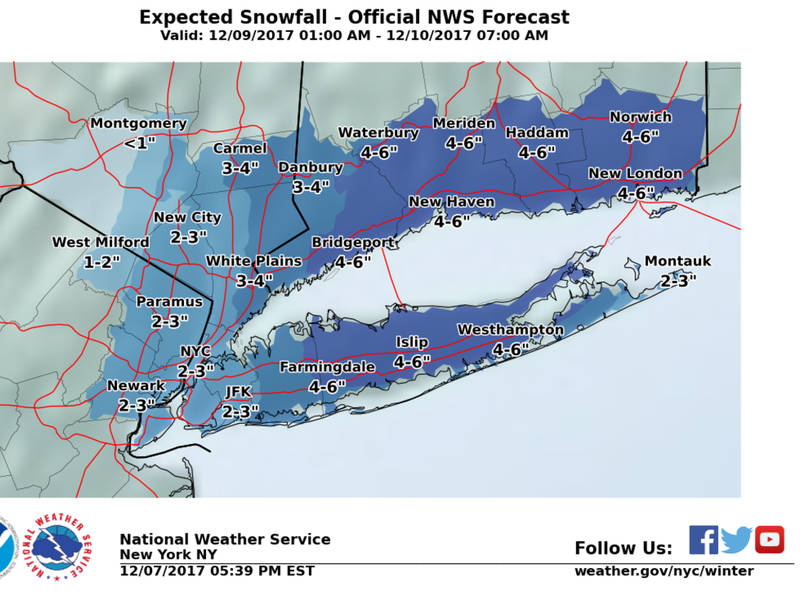 Long Island Weather 6 Inches Of Snow Possible Saturday Merrick