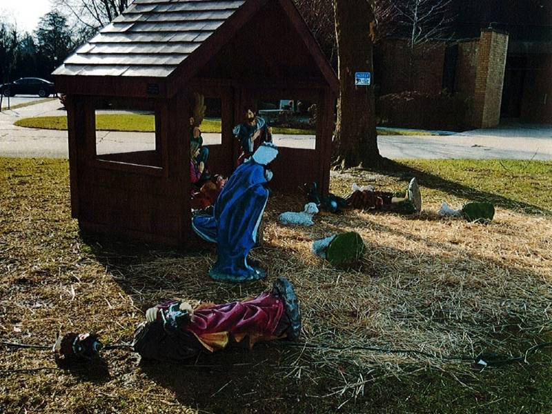 Police Ask For Help to Find Nativity Scene Vandals
