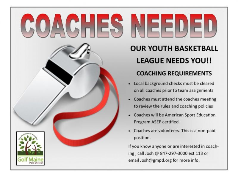 golf maine park district seeking youth basketball coaches | des ...