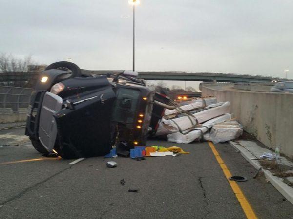 Truck Crash: Parts Of Major N.J. Highway Shut Down: Cops