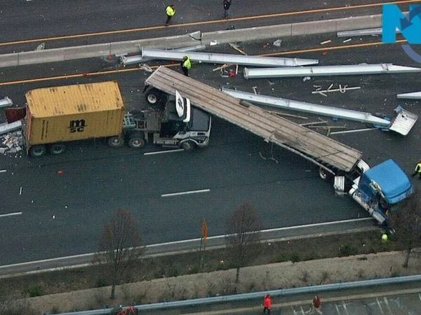 UPDATE: 2,500 Lb Steel Beam Fell Off Truck In Serious Rt. 17 Crash