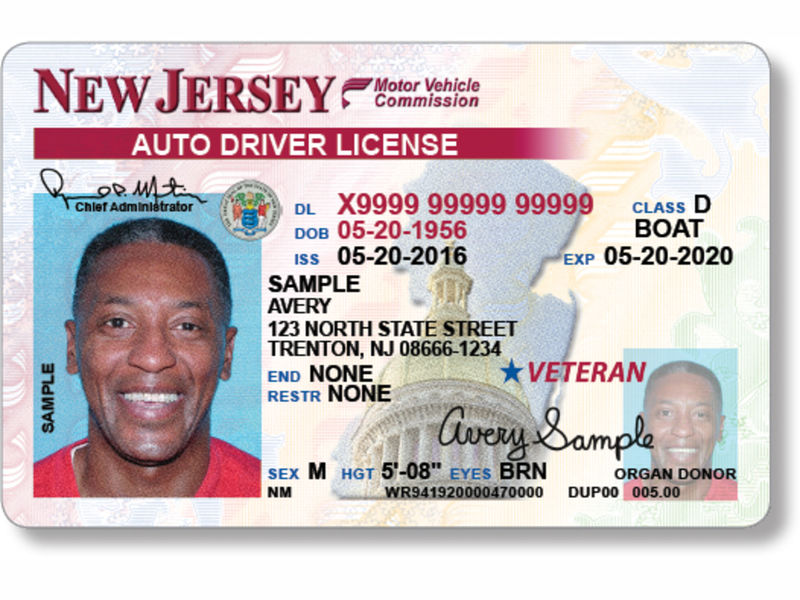 New Drivers License Jerse Jerseys