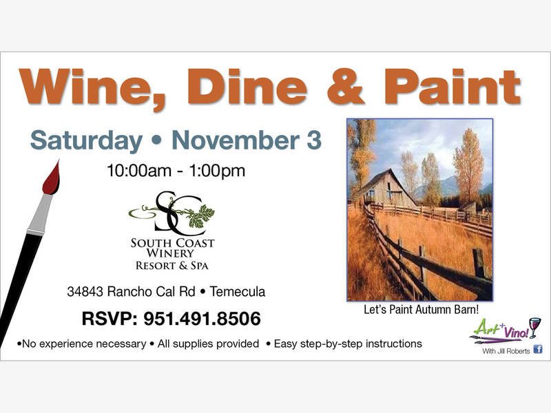 Temecula for Paint and wine temecula