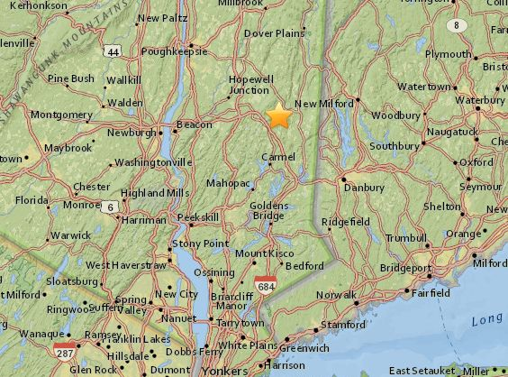 Small Earthquake Monday Near NY/CT Line   Mid Hudson Valley, NY Patch