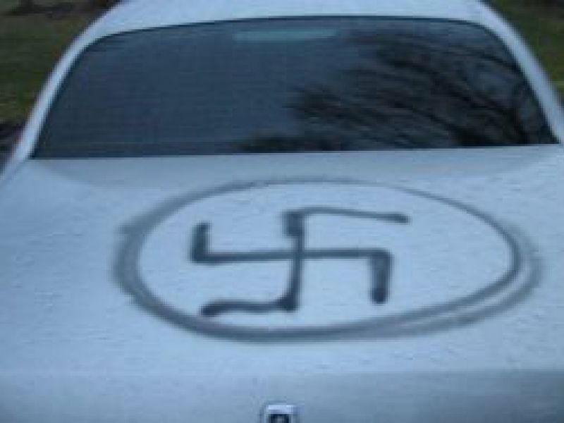 Swastika Racist And Trump Painted On Family S Cars