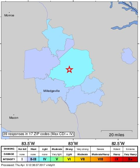 Small Earthquake Recorded Wednesday Night In Georgia Atlanta GA - Fault lines in georgia