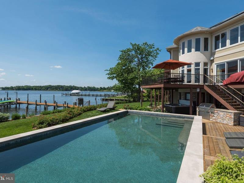 pool with outdoor kitchen small yard annapolis 325m home features waterside pool outdoor kitchen0 kitchen