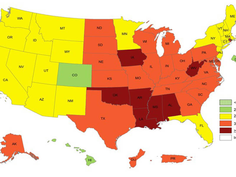 Obesity In Virginia, DC: New Maps Show How Common It Is | Across ...