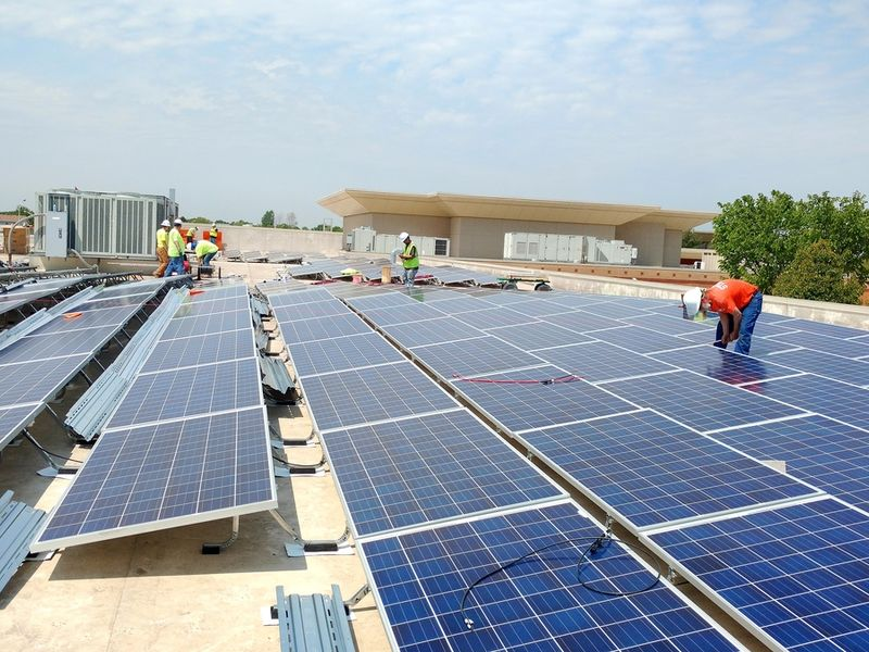 Solar Panels Installed At Valley View Schools Romeoville