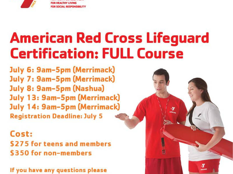 Nashua Y Offers American Red Cross Lifeguard Certification