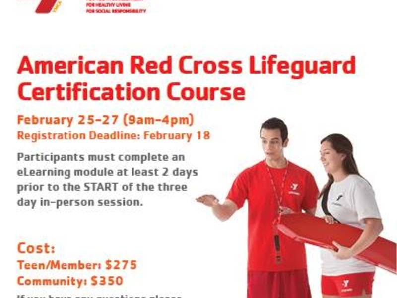 40c4bdb3d34a Red Cross Lifeguard Certification Course offered at the YMCA ...