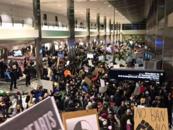 Protests at DTW Airport, Across Metro Detroit Over Trump's Executive Order on Immigrants, Refugees