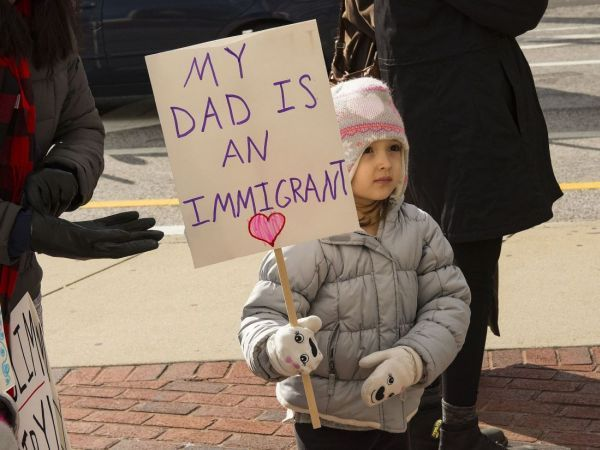 Hundreds March in Detroit 'Day Without Immigrants' Rally