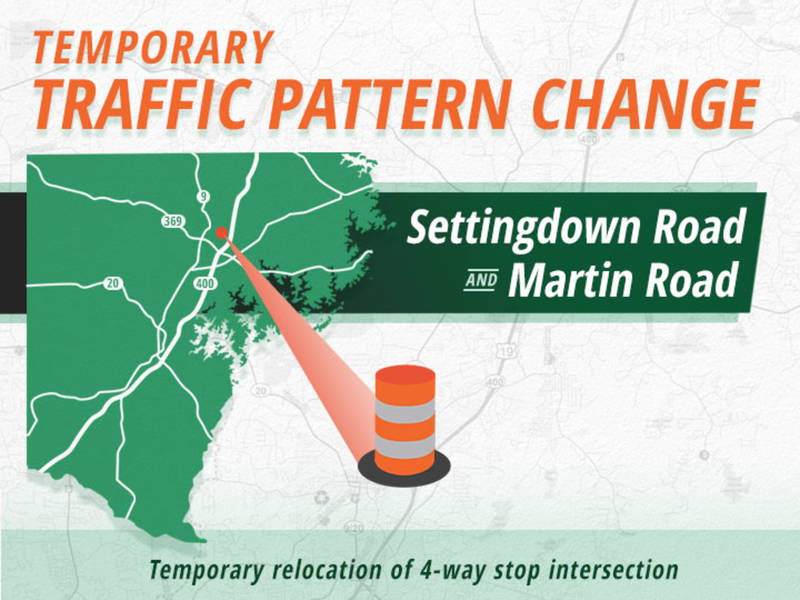 Temporary Traffic Shift At Settingdown Intersection To Begin