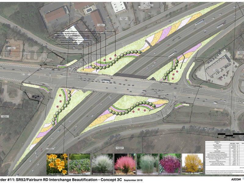 I-20 At Fairburn Road Beautification Set To Begin Spring 2019