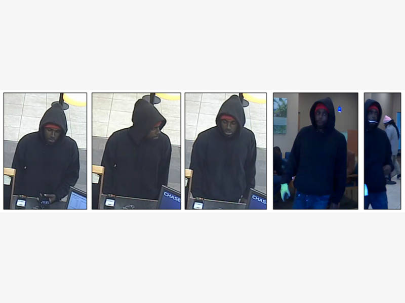 Few Clues In Friday's Chase Bank Robbery, Thief Sought