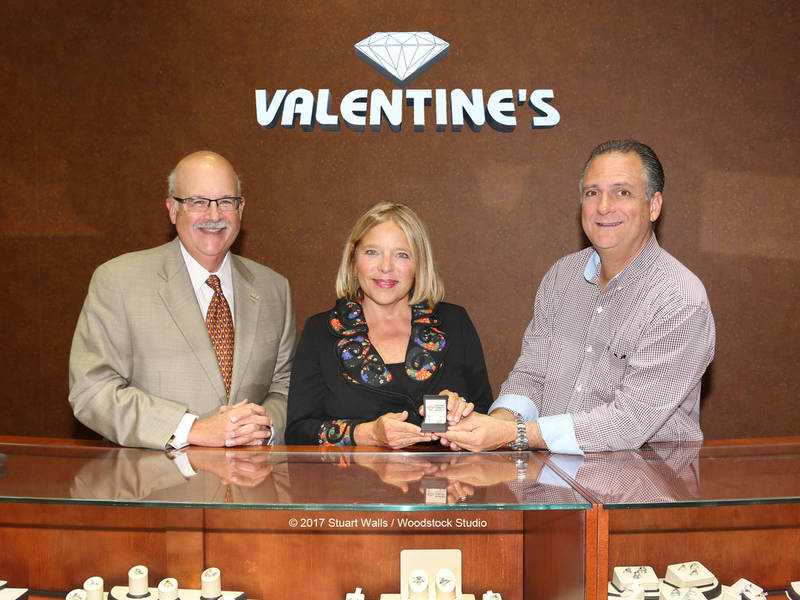 Valentineu0027s Diamond Center Donates Diamond Earrings To 60th Anniversary  Benefit For Bridges And United Way Of