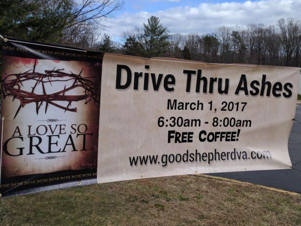 Drive-Through Ashes on Ash Wednesday March 1 in Vienna