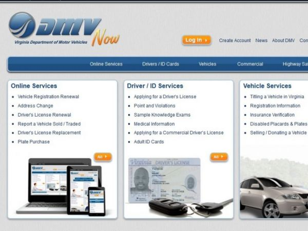 Virginia dmv website now shows estimated wait time for for Department of motor vehicle services