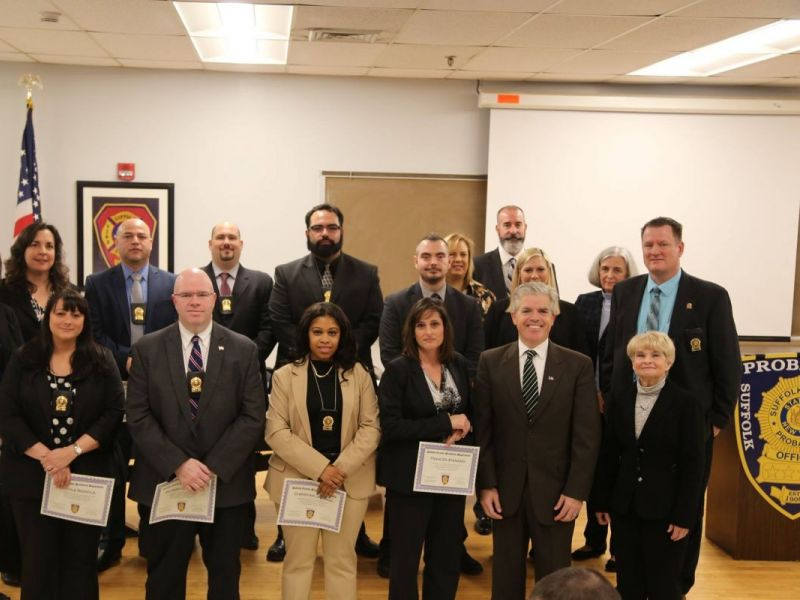 Bellone Congratulates New Probation Officers | Huntington, NY Patch