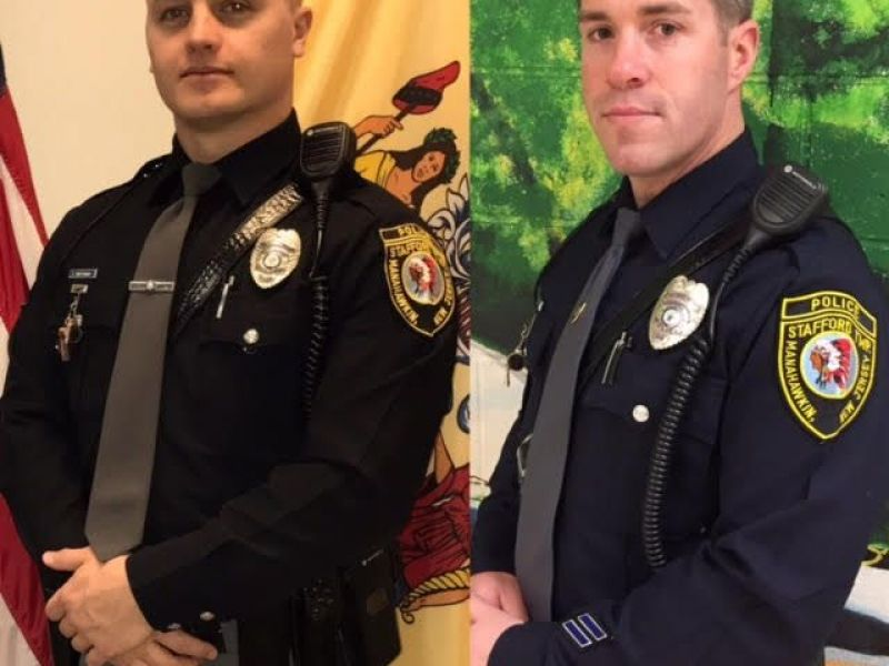 Two Officers Honored By Stafford Township Police