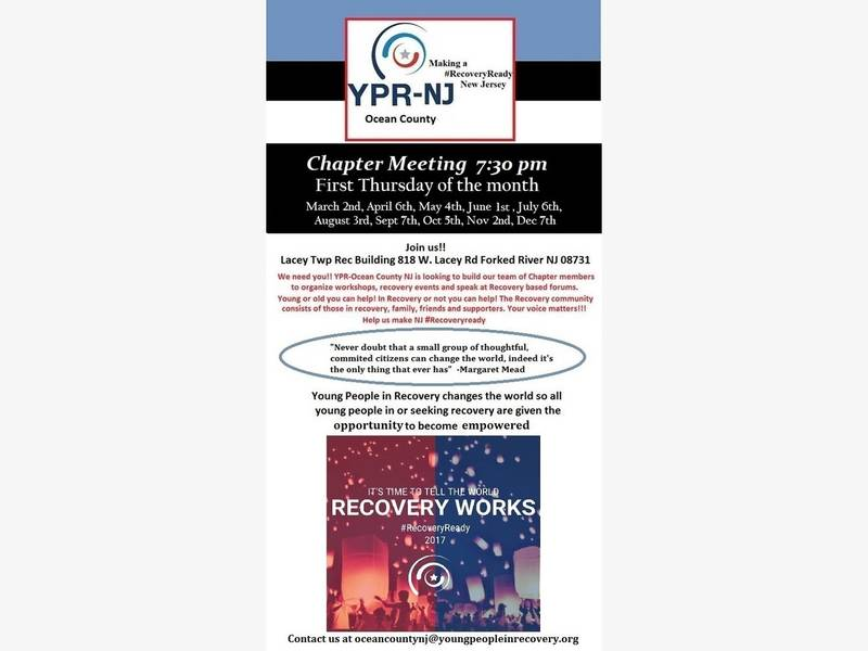 Next Young People In Recovery Meeting To Be Held In Lacey