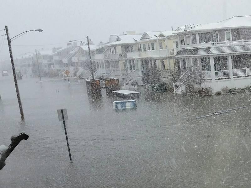 flooding snow struck ocean city during major nor easter ocean