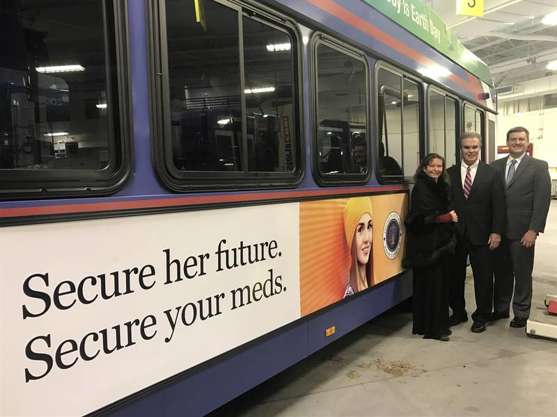 Nice Worcester County Buses Now Have Ads On Safe Med Storage