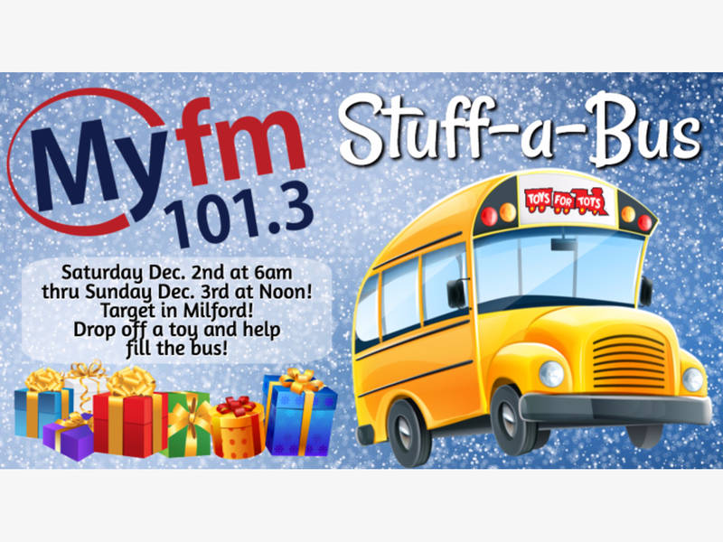 Donate Toys For Tots In Stuff A Bus Event Ord