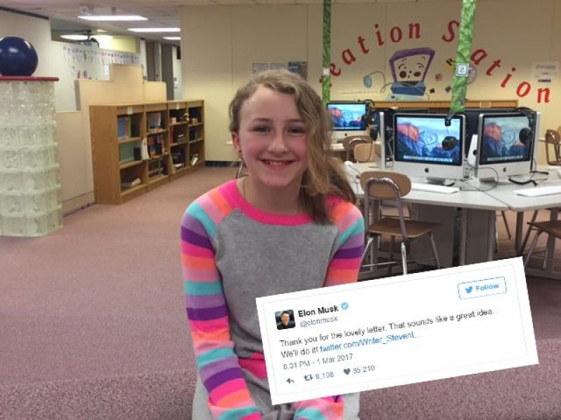 Tesla CEO Loves 'Great Idea' From Utica Fifth-Grader's Writing Assignment